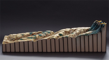 Guy Laramee Book Sculpture