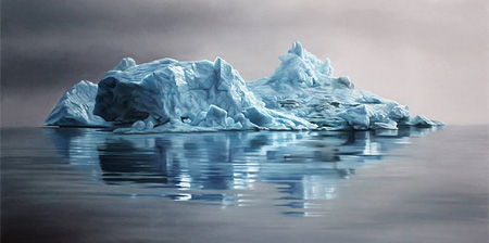 Icebergs by Zaria Forman