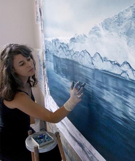 Iceberg by Zaria Forman