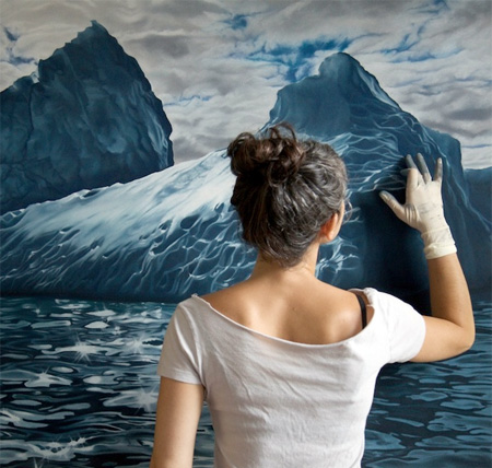 Iceberg Drawings by Zaria Forman