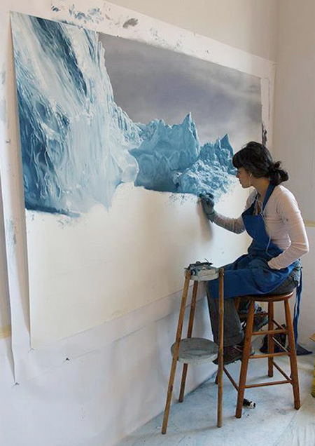 Iceberg Paintings by Zaria Forman