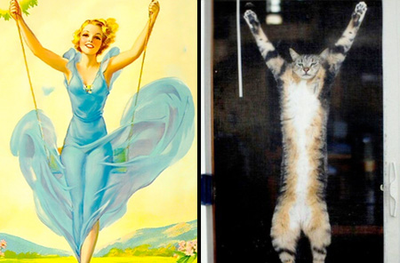 Pin Up Cats Calendar