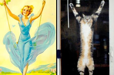 Pin Up Cats Calendar