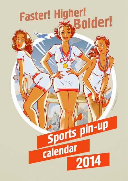 Sochi Olympics Pinup Calendar
