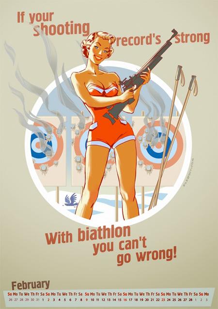 Olympics Pinup Calendar