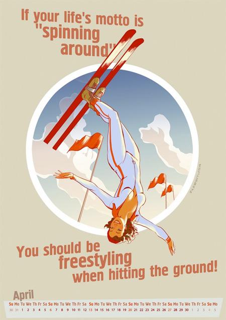 Winter Olympics Pinup Calendar