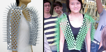Spike Vest for Subway Commuters