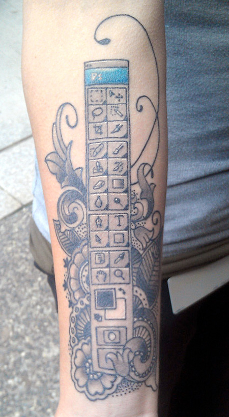 Megan Orsi Photoshop Tattoo