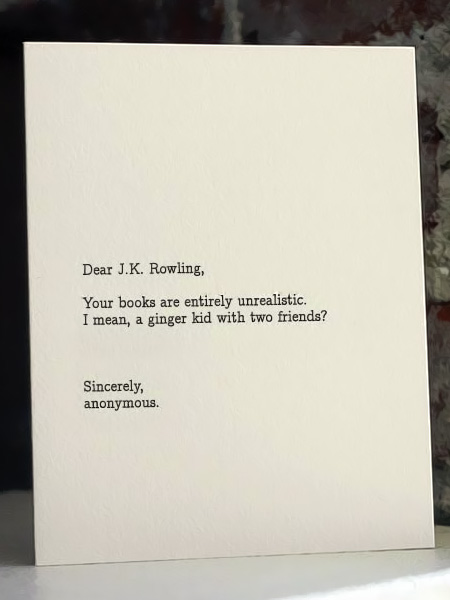 Dear Blank Please Blank Cards