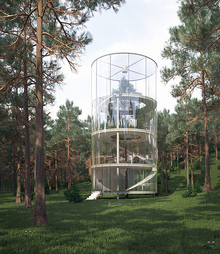 Transparent Tree House