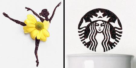 Ground Coffee Art