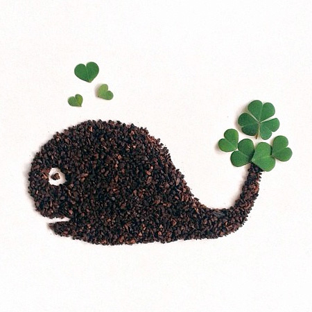 Ground Coffee Art by Liv Buranday