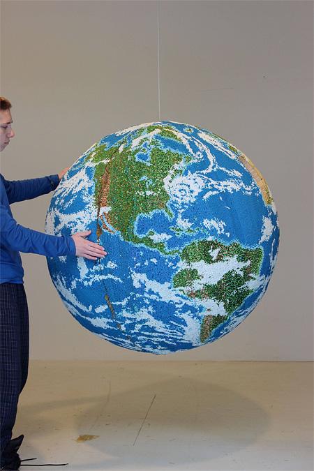 Globe Made of Matchsticks