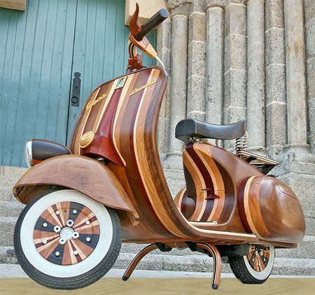 Vespa Made of Wood