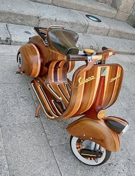 Scooter Hecho de madera