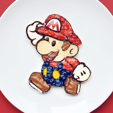 Super Mario Food Art