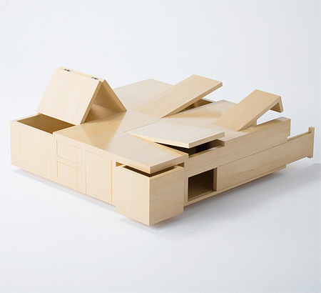 Table with Hidden Compartments