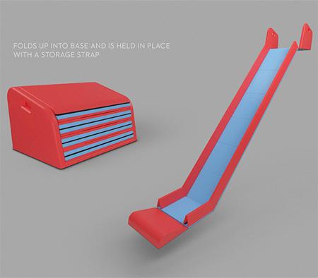 Folding slide