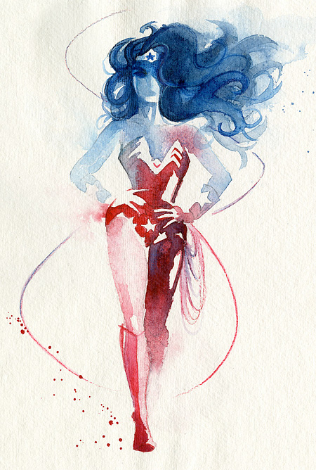 Superhero Watercolor Paintings