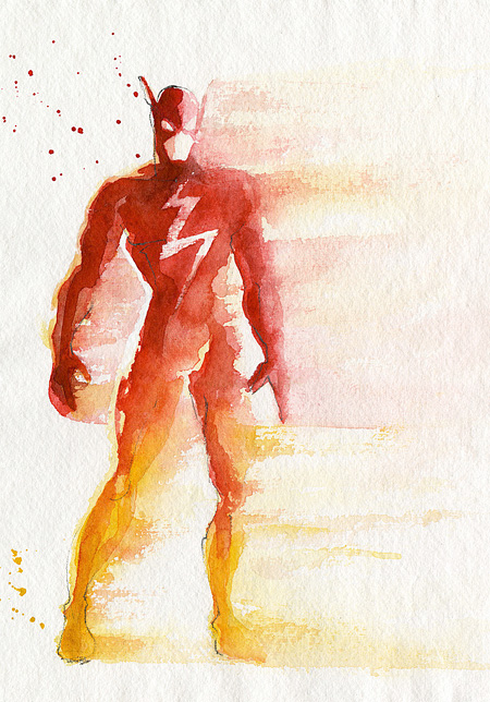 Superhero Watercolors