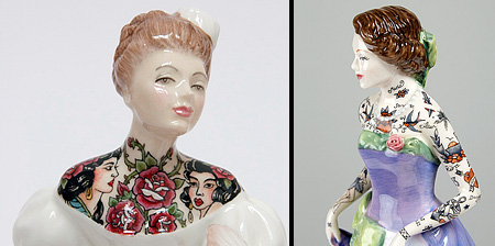 Tattooed Porcelain Figurines