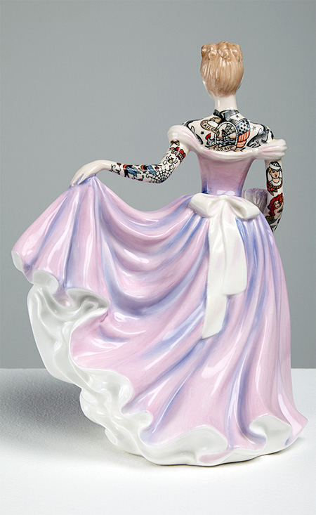 Tattooed Porcelain Figurine