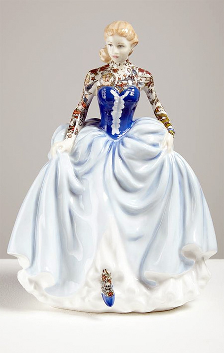 Tattooed Porcelain Figure
