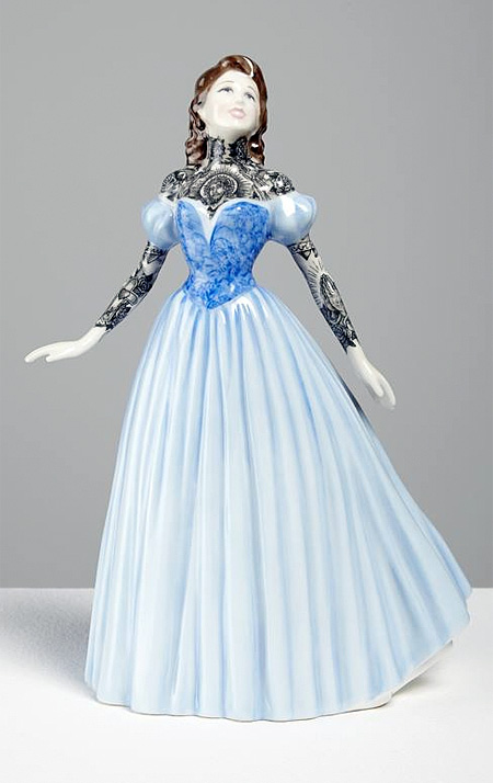 Jessica Harrison Tattooed Porcelain Figurines