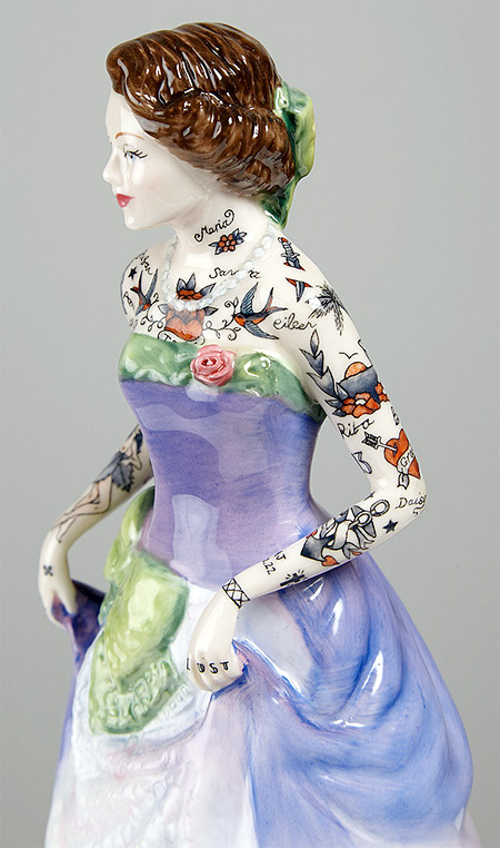 Jessica Harrison Tattooed Porcelain Figures