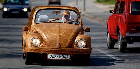 Wooden Volkswagen Beetle