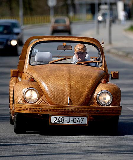 Wooden VW Beetle