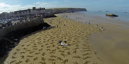 D-Day Beach Art
