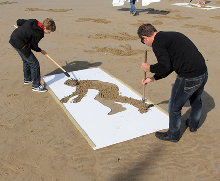D-Day Sand Art