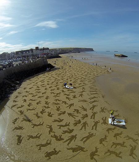 Normandy Beach Art
