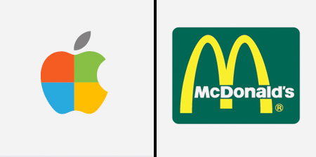 Brands Swapped Colors
