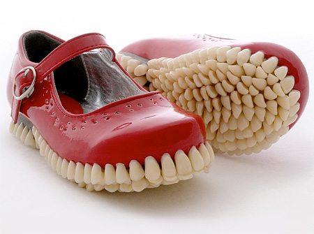 Mary Jane Shoes with Teeth