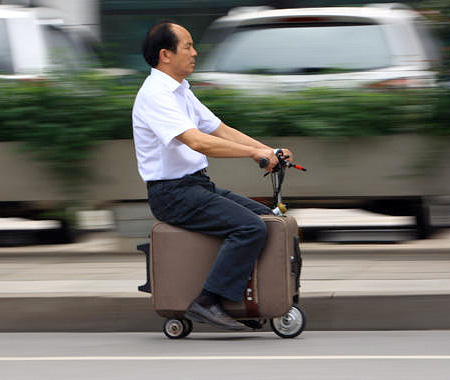 He Liangcai Suitcase Scooter