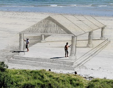 3D Sand Drawing