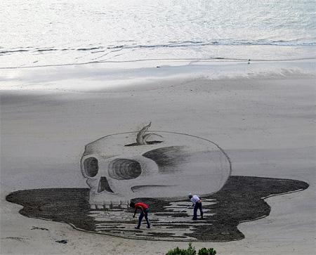 3D Beach Drawing