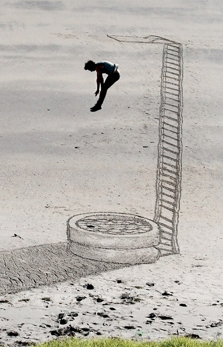 3D Sand Artwork