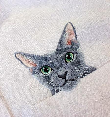 Cat Shirt by Hiroko Kubota