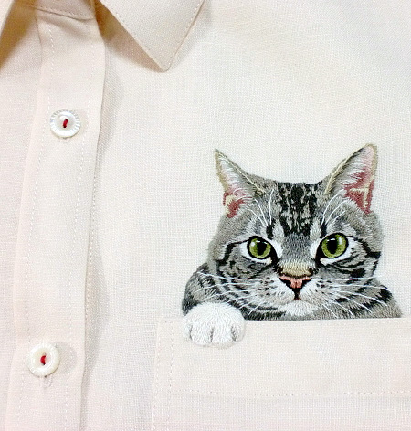 Cats Peeking out of Pockets