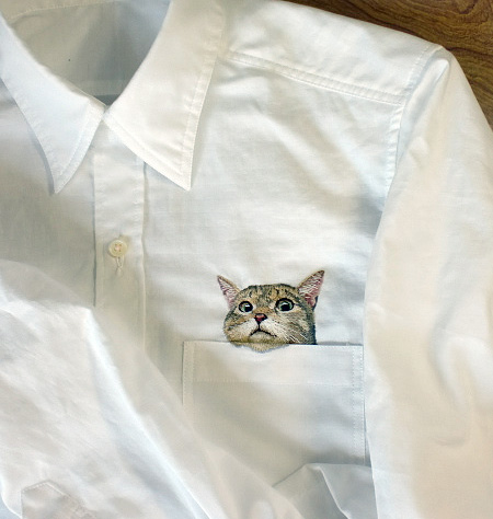 Cats in Pockets Shirts