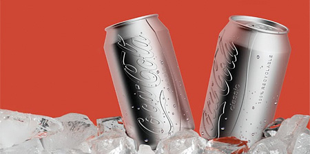 Colorless Coca-Cola Can