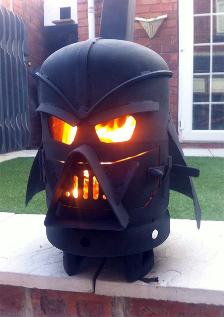 Darth Vader Wood Burning Stove