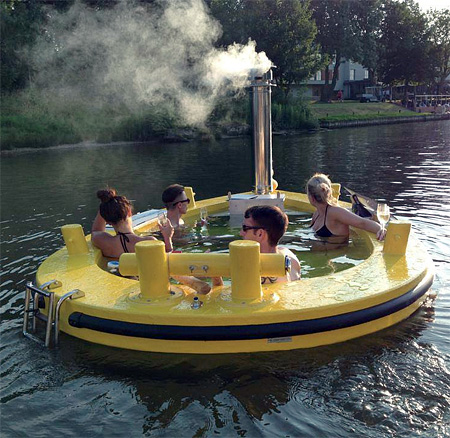 Floating Hot Tub Boat