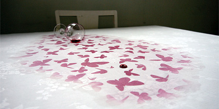 Tablecloth with Hidden Art