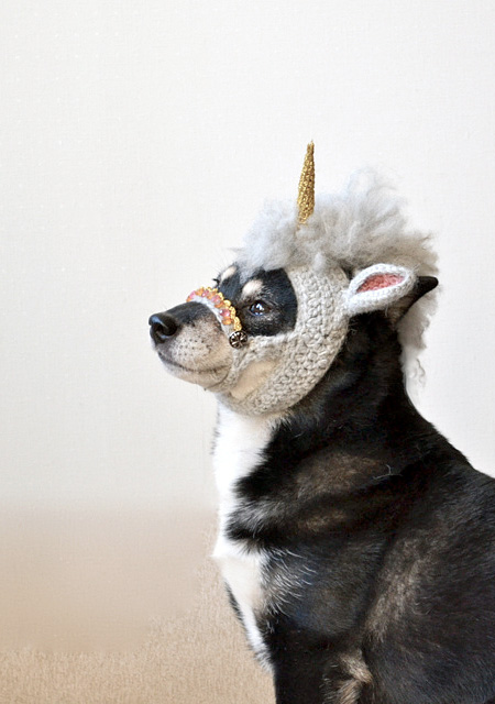 Unicorn Mask For Dogs