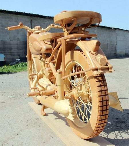 Carved Motorcycle