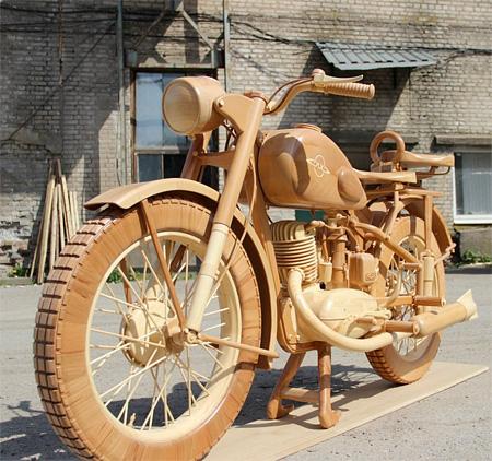 Yuri Hvtisishvili Wooden Motorcycle
